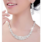 Koly® Women's Bride Bridesmaid Crystal Bridal Jewellery Sets. Necklace Earrings Set Wedding
