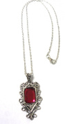 Mortal Instruments City Of Bones Isabelle Lightwood's Ruby Necklace Pendant
