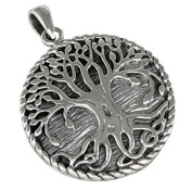 Tree of Life Yggdrasil Pendant from 925 Silver