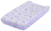 Balboa Baby Quilted Changing Pad Cover - Lavender Poppy