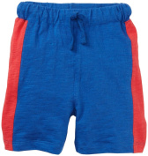Egg by Susan Lazar Slub Jersey Short With Colorblock (Baby) - Blue-12 Months