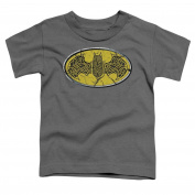 Batman Little Boys' Celtic Shield Childrens T-shirt 2T Charcoal