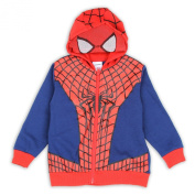 Marvel Spiderman Toddler Boy's Blue/Red Spiderman Suit Masked Hoodie Sz. 2T