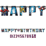Transformers Add-An-Age Letter Banner