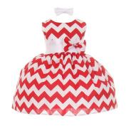 Baby Girls Red Chevron Stripe Headband Special Occasion Dress 24M