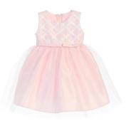 Sweet Kids Baby Girls Pink Cross Hatch Satin Tulle Easter Dress 18M