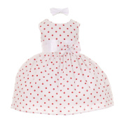 Baby Girls Red Polka Dot Headband Special Occasion Dress 18M