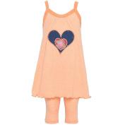 Kash Ten Baby Girls Orange Heart In Heart Applique 2Pc Legging Set 12M