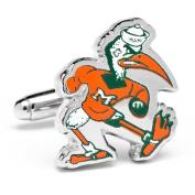 University of Miami Hurricanes Vintage Ibis Logo Cufflinks