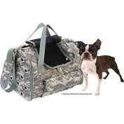 Digital Camo Pet Carrier with Carrying Straps and Detachable/Adjustable Shoulder Strap