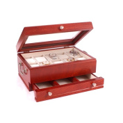 American Chest W1100-C Captain Ten Watch Chest & Mens Valet Solid Cherry