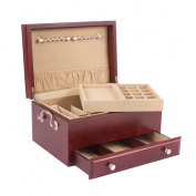 American Chest J11M Contessa One Drawer Jewel Chest with Lift Out Tray Heritage Cherry