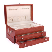 American Chest J02C First Lady Two Drawer Jewel Chest Heritage Cherry