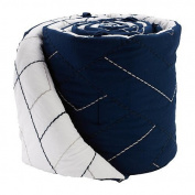 Living Textiles Baby Navy Quilted Bumper
