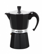 Orbegozo Kfn910 Stainless Steel 9 Cup Coffee Pot, Black Aluminium