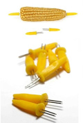 10 Corn Skewers Yellow Cob Holders Kitchen Forks BBQ Food Hygiene Sticks Prong Sweetcorn Party Garden Home Serving Dish Vegetable Fruits