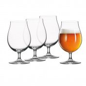 Spiegelau 4991974 18.8 x 18.8 x 16.5 cm Beer Classics Tulip Glass, Set of 4, Transparent