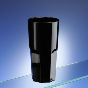 Black Plastic Octagon Shaped Tumblers. Set of 6. Virtually unbreakable. Holds 300ml / 10.6oz to rim. Ideal for all occassions inside or out and a safer alternative to glass. Dishwasher safe and great for kids