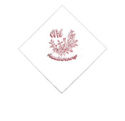Luxury Foiled Ruby Wedding Anniversary Napkins - Pack of 15