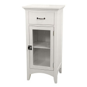 Elegant Home Fashions Madison Avenue 1-Door Floor Cabinet in White