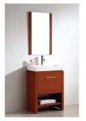 Dawn RAC241731-04 Melamine Plywood and Cabinet, One Soft Opening and Closing Vertical Door and One Bottom Shelf, Cherry Finish