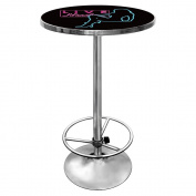 Trademark Shadow Babes - D Series - Pub Table, Black