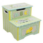 Teamson Kids Safari Crackle Step Stool with Storage