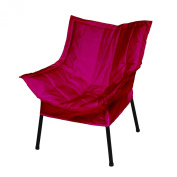 Casual Home 271-02/032-48 Milano Metal Chair, Black Frame with Burgundy Premium Seating