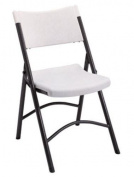 Living Accents SC2001 Plastic Folding Chair, White