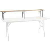 Flash Furniture 180cm x 30cm x 30cm Birchwood Bar Top Riser with Silver Legs