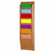 Wooden Mallet 7 Pocket Magazine Wall Rack in Light Oak