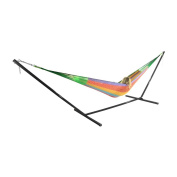 Sunnydaze Family Multi-Colour Mayan Hammock and Stand Combo, 460cm Long x 200cm Wide