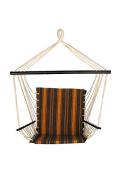 Bliss Hammocks BHC-361 Metro Hammock Chair, Calista Cabernet Stripe