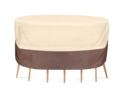 Pyle PVCTBLCH46 Armour Shield Patio Table and Chair Set Cover, 180cm by 60cm , Fits Round Table and 6 Standard Chairs