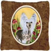Chinese Crested Decorative Canvas Fabric Pillow