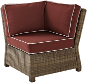 Outdoor Wicker Sectional Corner Chair Sangria