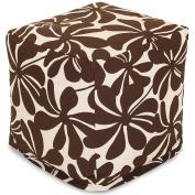 Majestic Home Goods Plantation Indoor / Outdoor Bean Bag Ottoman Pouffe Cube, 43cm x 43cm x 43cm