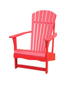 International Concepts Outdoor Adirondack Chair, Red
