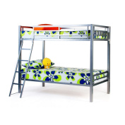 4D Concepts Bay Twin Over Twin Bunk Bed - Silver