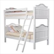 Bolton Furniture Emma Twin Bunk Bed, White