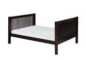 Camaflexi C1012-Cp Twin Tall Platform Bed With Mission Headboard Cappuccino Finish, Twin Size Mattress