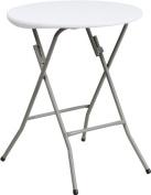60cm Round Granite White Plastic Folding Table