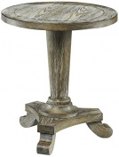 Hammary Hidden Treasures Driftwood Pedestal Table in Driftwood