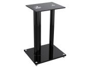 Glass Floor Speaker Stands (pair) - Black
