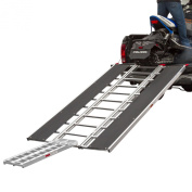 240cm x 140cm Snowmobile Loading Ramp with Extra Wide Glides