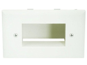 Easy Mount Low Voltage Cable Recessed Wall Plate - Lite Almond
