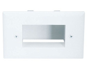 Easy Mount Low Voltage Cable Recessed Wall Plate - White