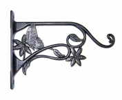 Panacea 85640 Plant Bracket With Butterfly, 23cm , Brushed Bronze