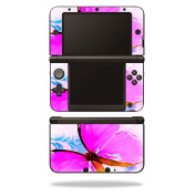 MightySkins Protective Vinyl Skin Decal Cover for Nintendo 3DS XL Original (2012-2014 Models) Sticker Wrap Skins Pink Butterfly