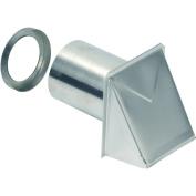 Broan 642 10cm Round Duct Aluminium Wall Cap with Damper, Aluminium